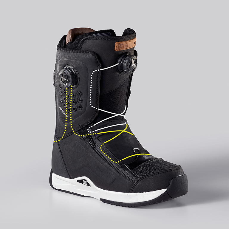 DC Travis Rice Snowboard Boot, Lace Path
