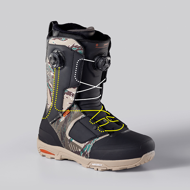 RIDE Insano Snowboard Boot, Lace Path