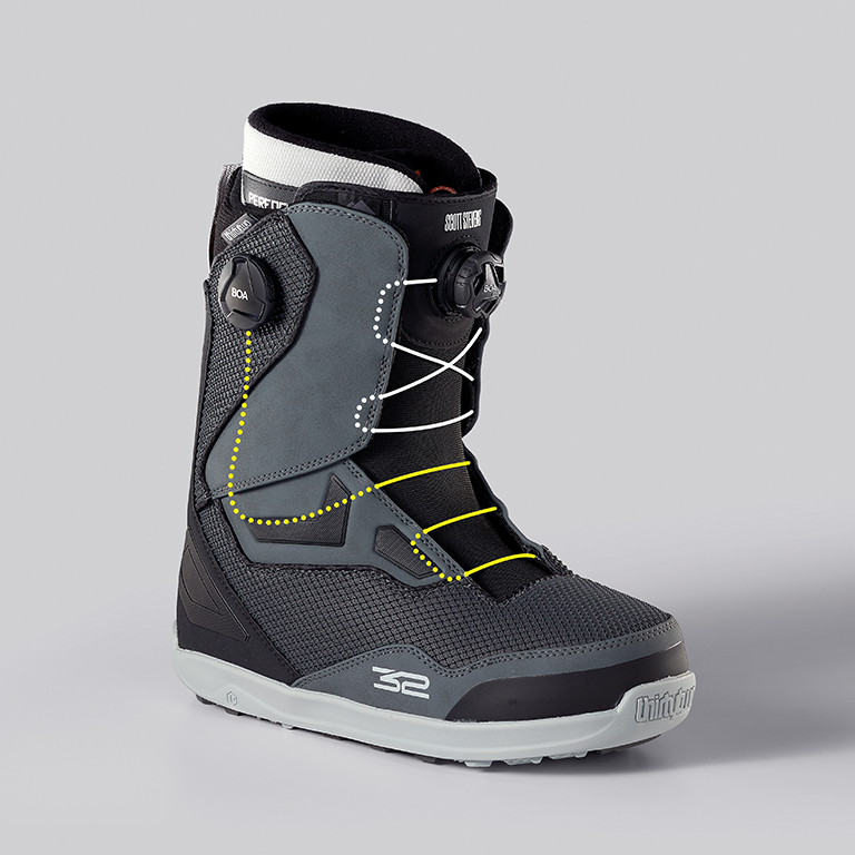 ThiryTwo Team Two Snowboard Boot, Lace Path